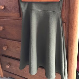 Amy/Olive Green XS Flare Skirt